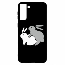 Чохол для Samsung S21 Ultra Кролики