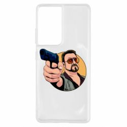 Чохол для Samsung S21 Ultra Лебовськи з пістолетом