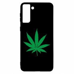 Чохол для Samsung S21 Ultra Листочок марихуани
