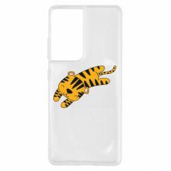Чехол для Samsung S21 Ultra Little striped tiger