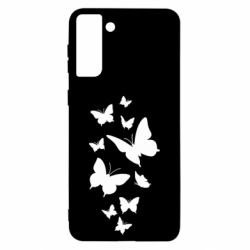 Чохол для Samsung S21 Ultra Many butterflies