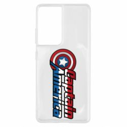 Чохол для Samsung S21 Ultra Marvel Captain America