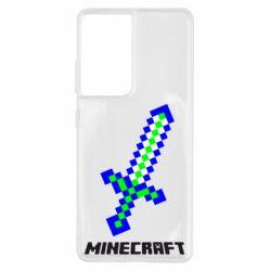 Чохол для Samsung S21 Ultra Меч Minecraft