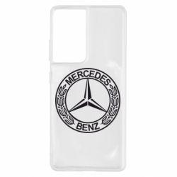 Чохол для Samsung S21 Ultra Mercedes Логотип