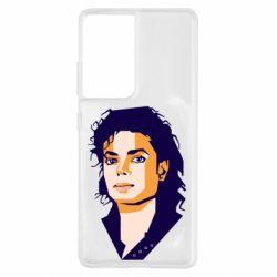 Чохол для Samsung S21 Ultra Michael Jackson Graphics Cubism