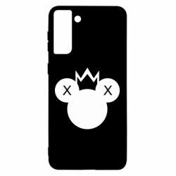 Чохол для Samsung S21 Ultra Mickey with a crown