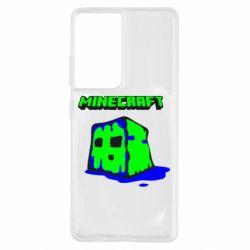 Чохол для Samsung S21 Ultra Minecraft Head