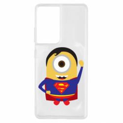 Чохол для Samsung S21 Ultra Minion Superman
