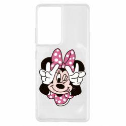 Чохол для Samsung S21 Ultra Minnie Mouse
