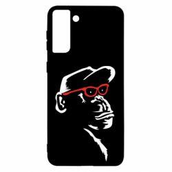 Чохол для Samsung S21 Ultra Monkey in red glasses