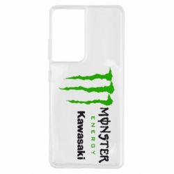 Чохол для Samsung S21 Ultra Monster Energy Kawasaki