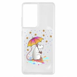 Чохол для Samsung S21 Ultra Mouse and rain
