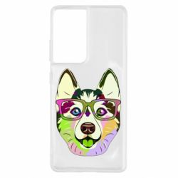 Чохол для Samsung S21 Ultra Multi-colored dog with glasses