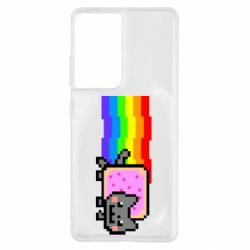 Чохол для Samsung S21 Ultra Nyan cat