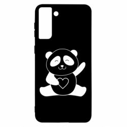 Чохол для Samsung S21 Ultra Panda and heart