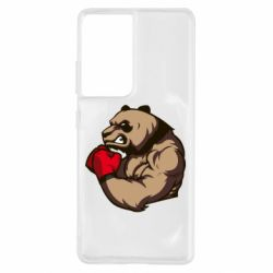 Чехол для Samsung S21 Ultra Panda Boxing