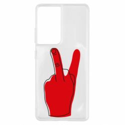Чехол для Samsung S21 Ultra Peace and middle finger
