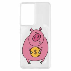 Чохол для Samsung S21 Ultra Pig and $