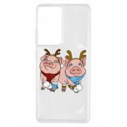 Чохол для Samsung S21 Ultra Pigs