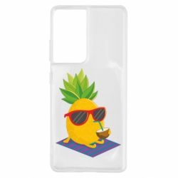 Чохол для Samsung S21 Ultra Pineapple with coconut