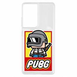 Чехол для Samsung S21 Ultra PUBG LEGO