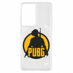 Чехол для Samsung S21 Ultra PUBG logo and game hero