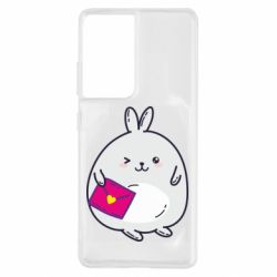 Чохол для Samsung S21 Ultra Rabbit with a letter