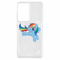 Чохол для Samsung S21 Ultra Rainbow Dash run