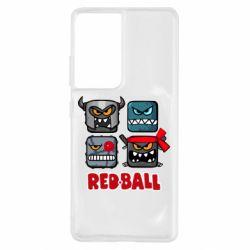 Чохол для Samsung S21 Ultra Red ball heroes