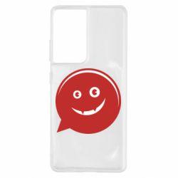 Чехол для Samsung S21 Ultra Red smile
