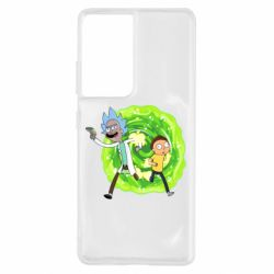 Чохол для Samsung S21 Ultra Rick and Morty art