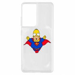 Чехол для Samsung S21 Ultra Simpson superman