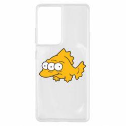 Чехол для Samsung S21 Ultra Simpsons three eyed fish