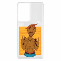 Чохол для Samsung S21 Ultra Singer Tupac Shakur