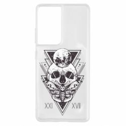 Чохол для Samsung S21 Ultra Skull with insect
