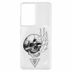 Чохол для Samsung S21 Ultra Smoke from the skull