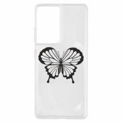 Чохол для Samsung S21 Ultra Soft butterfly
