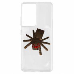 Чохол для Samsung S21 Ultra Spider from Minecraft