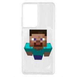 Чехол для Samsung S21 Ultra Steve from Minecraft