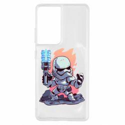 Чохол для Samsung S21 Ultra Stormtrooper chibi