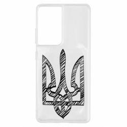 Чехол для Samsung S21 Ultra Striped coat of arms