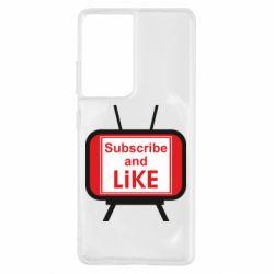 Чохол для Samsung S21 Ultra Subscribe and like youtube