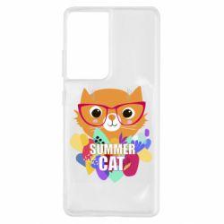 Чохол для Samsung S21 Ultra Summer cat