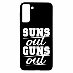 Чехол для Samsung S21 Ultra Suns out guns out