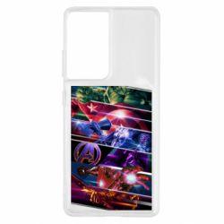 Чехол для Samsung S21 Ultra Super power avengers