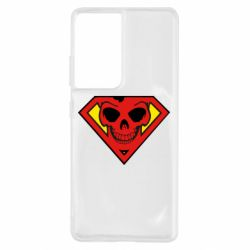 Чехол для Samsung S21 Ultra Superman Skull