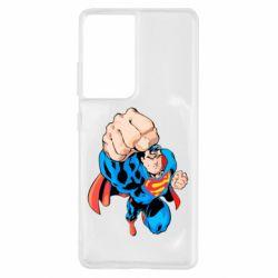 Чохол для Samsung S21 Ultra Супермен Комікс