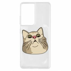 Чехол для Samsung S21 Ultra Surprised cat