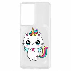 Чохол для Samsung S21 Ultra The cat is unicorn