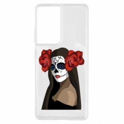 Чохол для Samsung S21 Ultra The girl in the image of the day of the dead